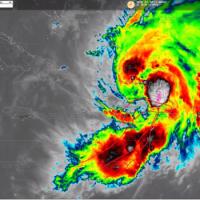 Onamet: centro de la tormenta Isaías está entre Puerto Plata y Santiago