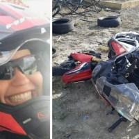 Tatiana Rosario sufre accidente de moto en Montecristi; la trasladan en helicóptero a SD