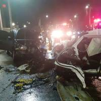Tres heridos en accidente en la George Washington durante toque de queda