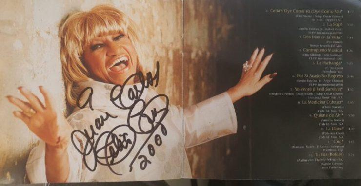 Celia Cruz autografo