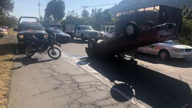 10 estudiantes del ITSU quedan heridos en volcadura de camioneta