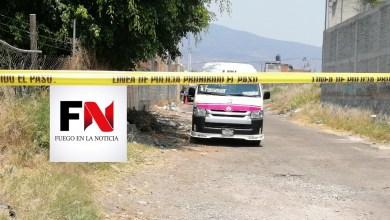 Asesinan a chofer de la Ruta Rosa 1 en Tarímbaro