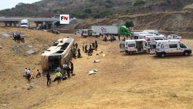Coordina SSM traslado de 25 lesionados en accidente carretero