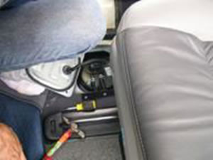 1: Find the location of fuel tank, normally its below the back seats or car boot.