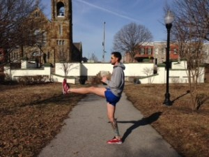 Dynamic Stretching #1, Front Leg Swings