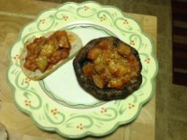 Eggplant Parm over Portobello Mushroom or Whole Wheat Toast
