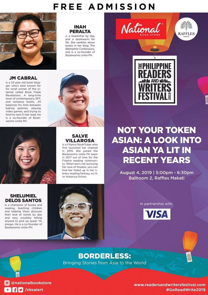 philippine readers and writers festival 2019 event poster