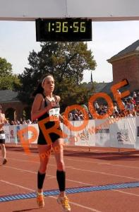 This half marathon 2 years ago ended on a track...it counts...(the Run for a dream on W&M)