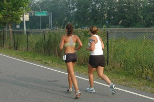 adubs and I finishing her first road race.   My best friend is also a runner.  Did I mention I miss her?