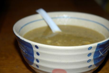 I crave soup in the winter. My two favorites are split pea and lentil