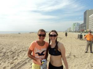 Running doesn't define us...we met doing an open water swim!