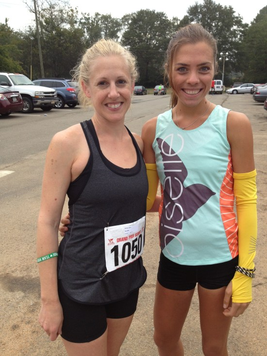 Laura and I prerace