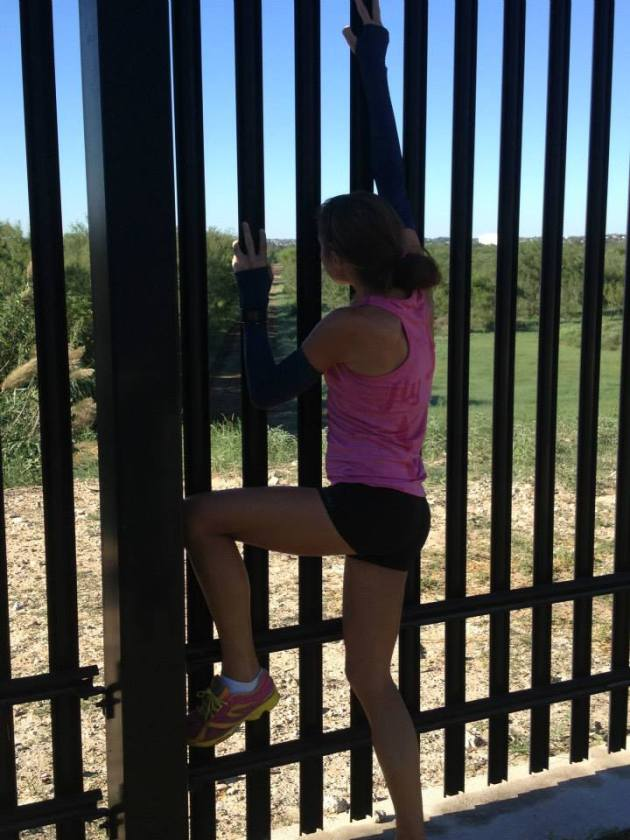 Climbing the Fence to Mexico...
