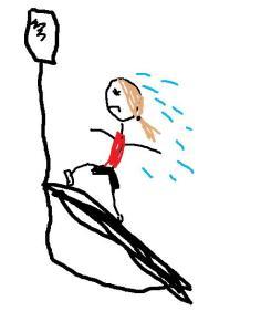 An artsy version of running on the treadmill.