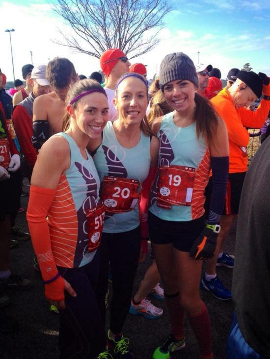 Stephanie, Mollie and I at the race start.