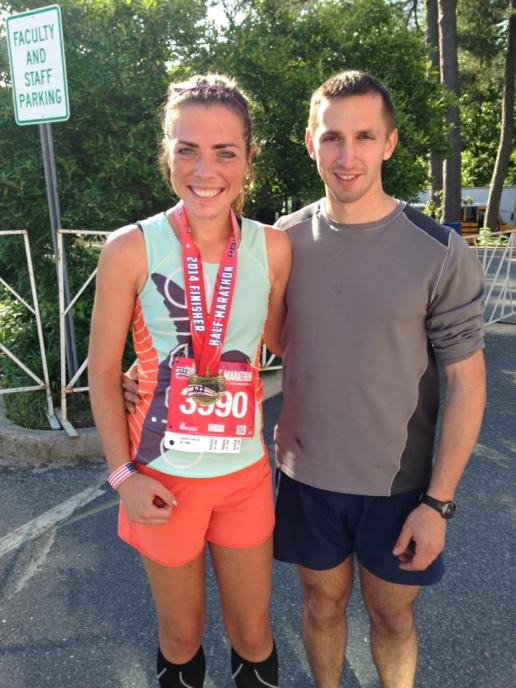 Running with my husband