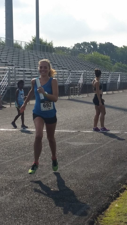 I'm smiling because I actually didn't drop the baton.