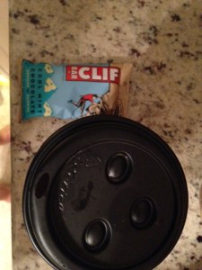 Coffee and cliff bar.  Mint was okay, not my favorite but not the worst.