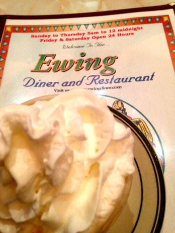 I think a whipped cream coffee and picture of the menu is a perfect diner review staple