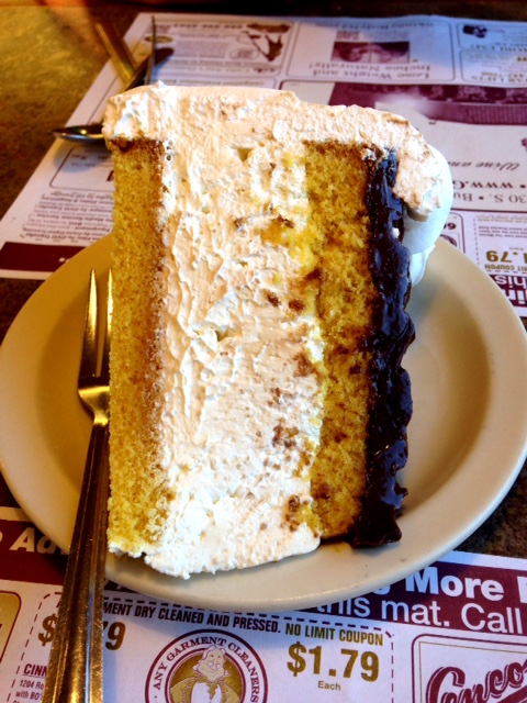 Golden Dawn Diner Boston Cream cake