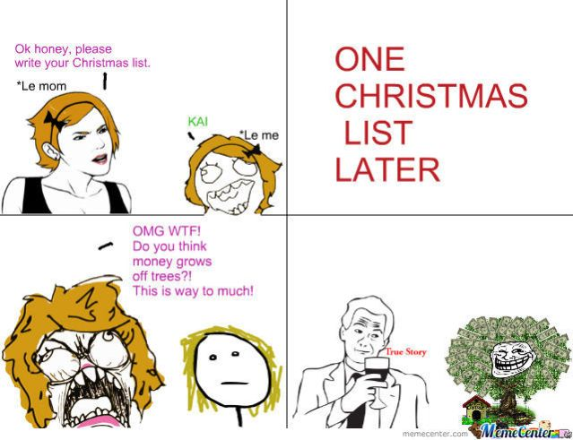 christmas list meme