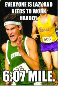 lazy runner meme