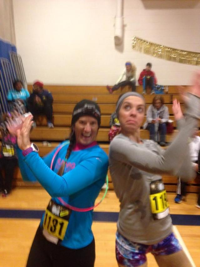 Dancing pre race with Marie