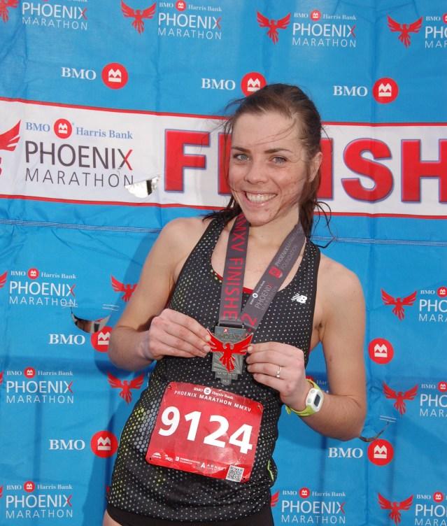 Phoenix marathon finish