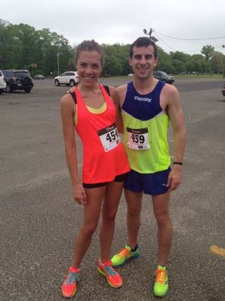 My friend Austin and I at that race