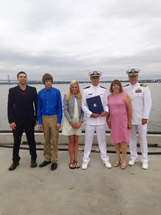 family shot graduation