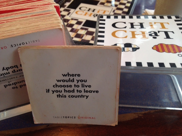 chit chat diner cards