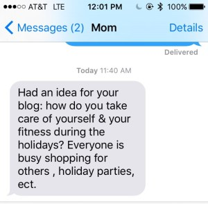Text from mom