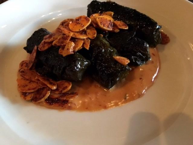 Zahav Restaurant Philadelphia grape leaves