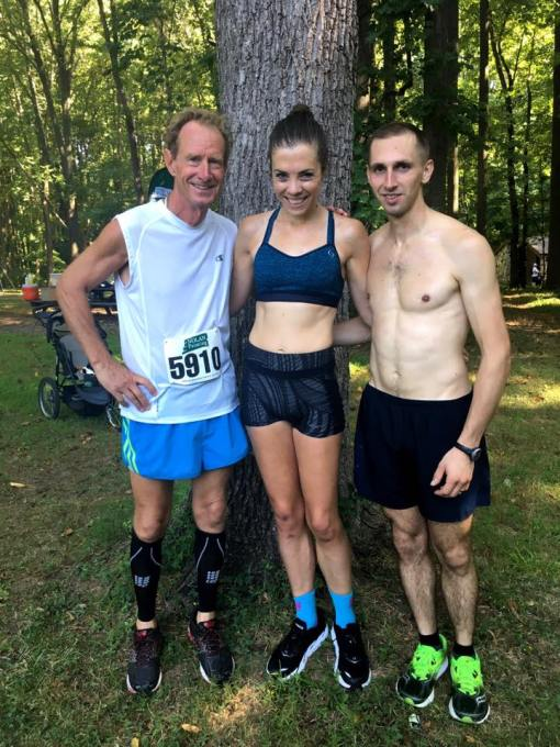 Post race with my father in law and husband