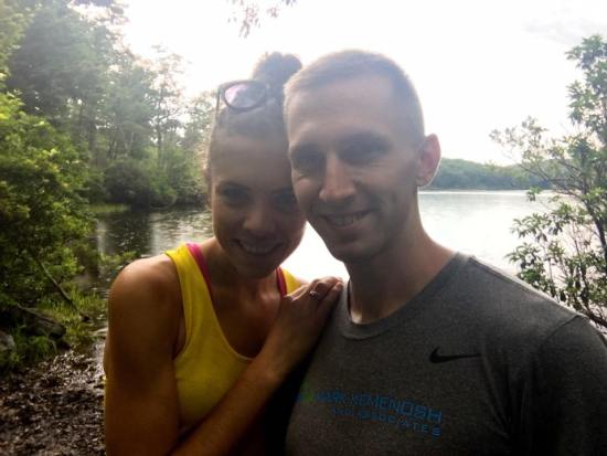 hiking sunfish pond tim and i