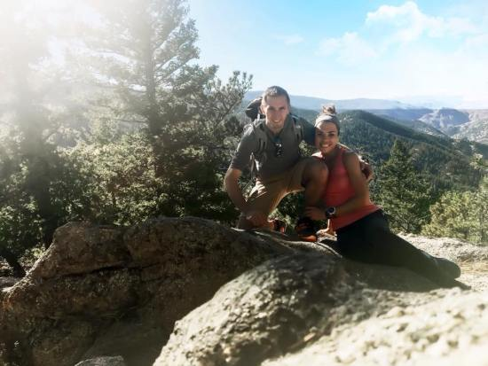 hiking flagstaff mountain boulder