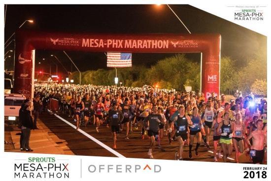 Phoenix Half marathon feb me running