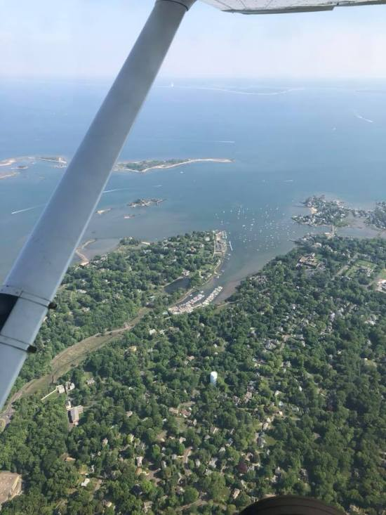 flying over ct