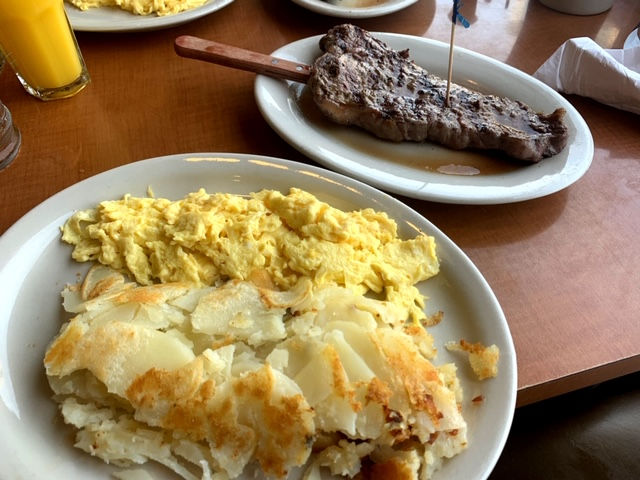 Penrose Diner Philadelphia steak and eggs