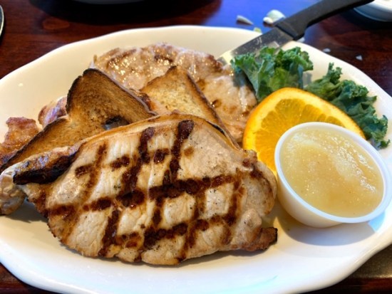 Toms River Diner pork chops