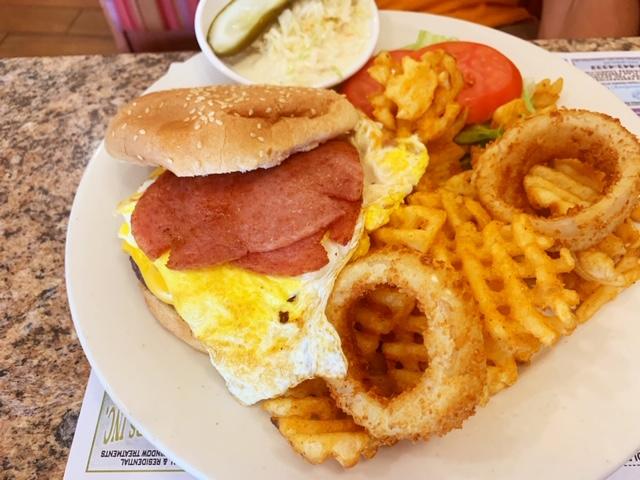 Florham Park Diner breakfast burger
