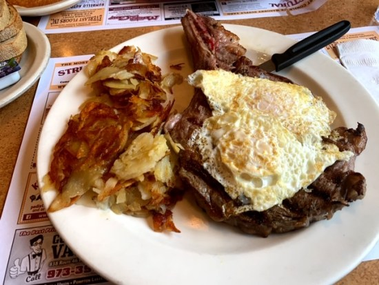 Brookside Diner (whippany) ribeye steak and eggs