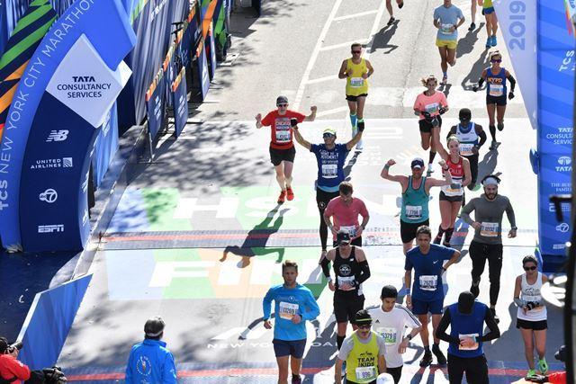 TCS New York City Marathon me running