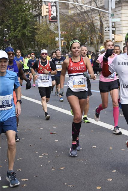 TCS New York City Marathon me running