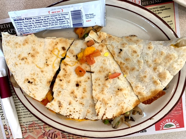 Trainer's Midway Diner (Bethel, PA) quesadilla