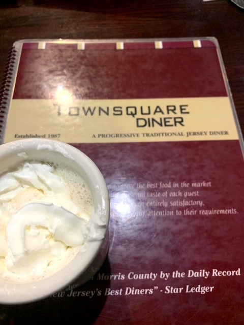 Townsquare diner Wharton coffee