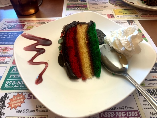Maple Valley Diner (Clifton, NJ) rainbow cake