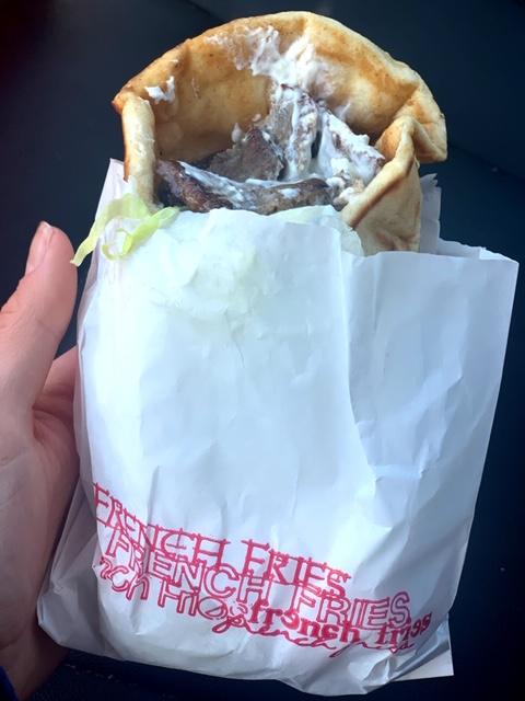 White Rose Hamburgers (Highland Park) gyro