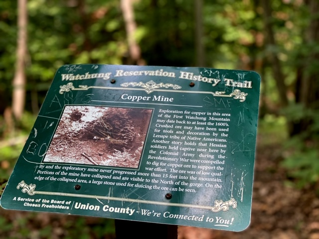 History Trail at Watchung Reservation Copper mine