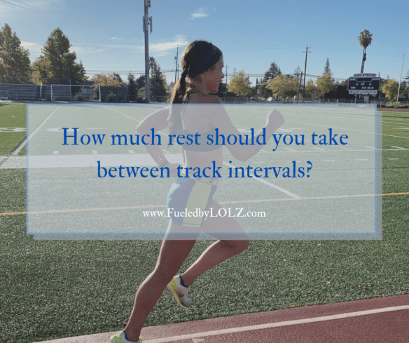 How much rest should you take between track intervals?